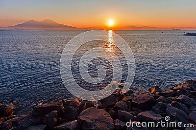 Naples, sunset