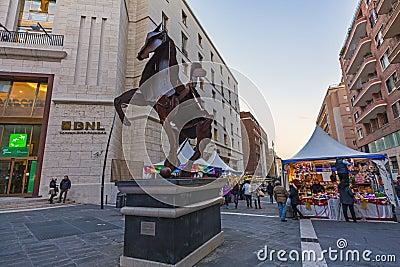 Naples,via roma BNL baripas Editorial Stock Image