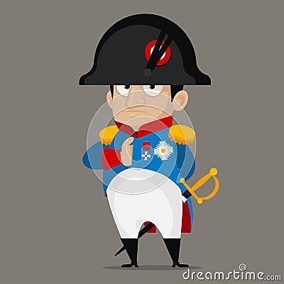 Free Napoleon Bonaparte Cartoon Character Royalty Free Stock Photography - 40888247