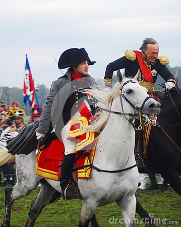 Free Napoleon Riding A White Horse Stock Photography - 29364662