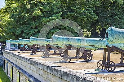 Napoleonic artillery gun near Les Invalides, Paris
