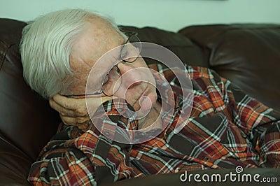 Napping grandpa