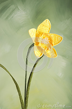 Free Narcissus-crocheted Flowers Royalty Free Stock Photography - 25679137