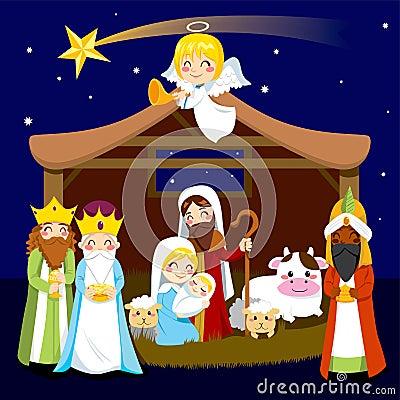 Narodzenie Jezusa bożenarodzeniowa Scena