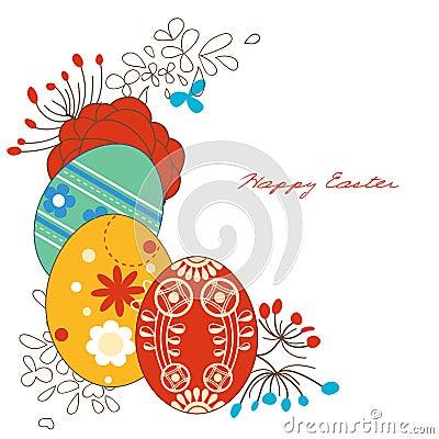 Narożnikowi dekoraci Easter jajka