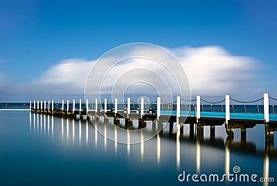 Narrabeen Tidal Pool Pier Reflection