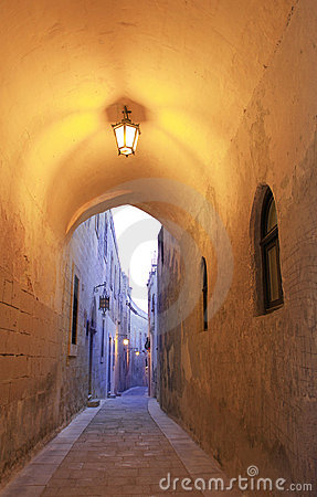 Narrow alley in Mdina