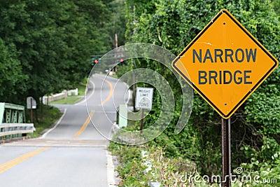 image gallery narrow bridge sign
