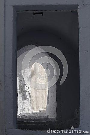 Narrow doorway and alley