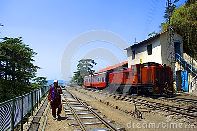 Narrow Gauge railway Editorial Stock Image