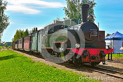 Narrow gauge steam train. Editorial Stock Image