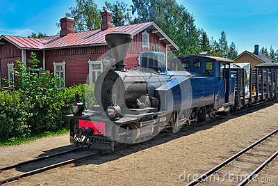 Narrow gauge steam train. Editorial Photography