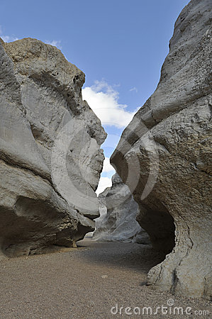 Narrow gorge in Negev desert, Israel.