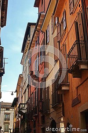 Narrow Italian city street