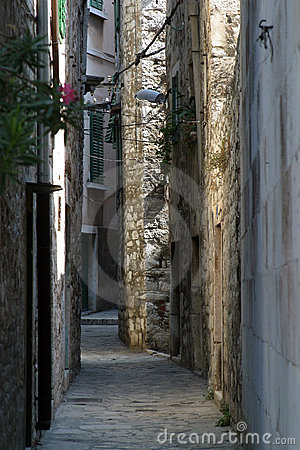 Narrow and old street