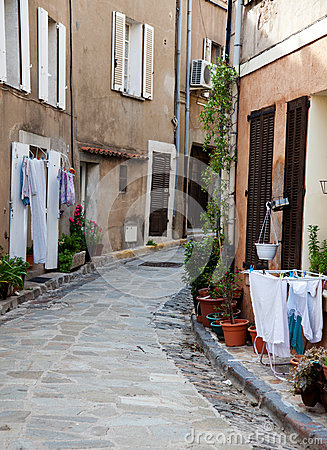 Narrow provencal alley