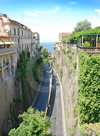Narrow  roads in Sorrento, Italy