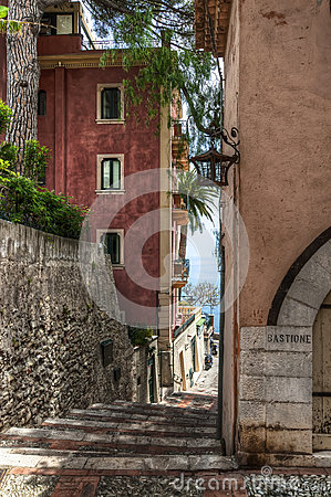 Narrow side street, Taormina
