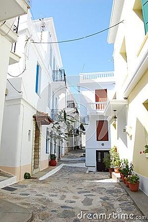 Narrow skopelos street