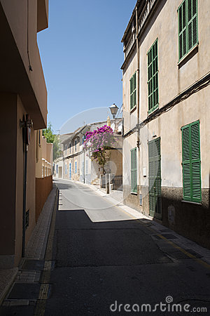 Narrow Spanish street
