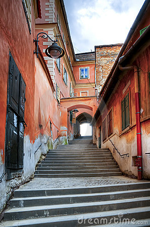 Narrow steps in sibiu