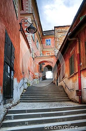 Narrow steps in sibiu