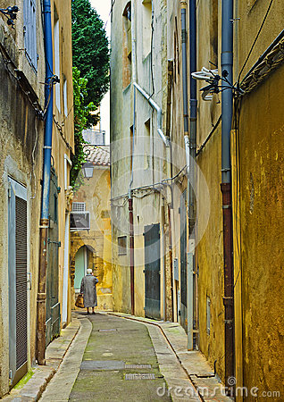 Narrow Street,  Aix-en-Provence, France Editorial Photo
