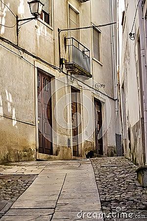 Narrow street in Coimbra