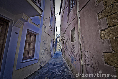 Narrow street on Crete