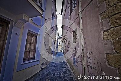 Narrow street on Crete