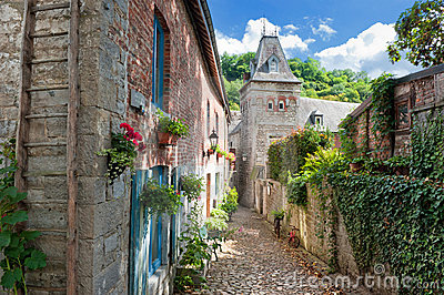 Narrow Street In Old European Town Royalty Free Stock Image - Image: 21355606