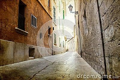 Narrow street in Palma de Mallorca
