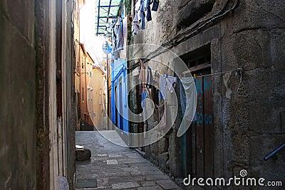 Narrow street in Porto, Portugal