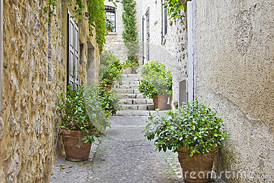 Narrow street in Provence
