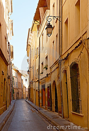 Narrow street with Provence houses