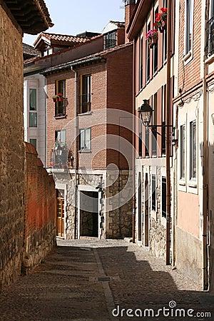 Narrow street in Spain