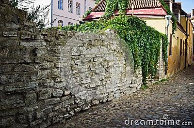 Narrow street in  Tallinn