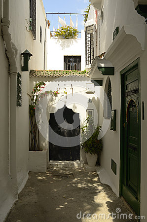 Narrow street in Tangier