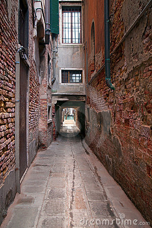 The Narrow Street In Venice Stock Photo - Image: 81891714