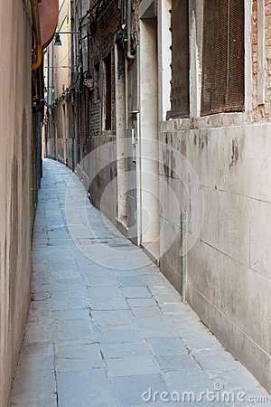 Narrow street of Venice