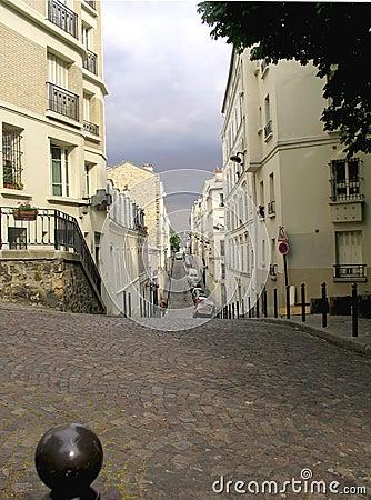 Free Narrow Street With Cobblestone Pavement Royalty Free Stock Photos - 4167468