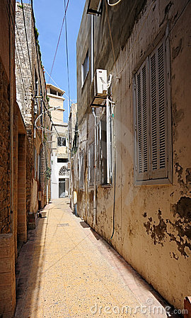 The Narrow Streets of Old Town Tyre, Lebanon