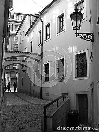 Narrow streets of Prague