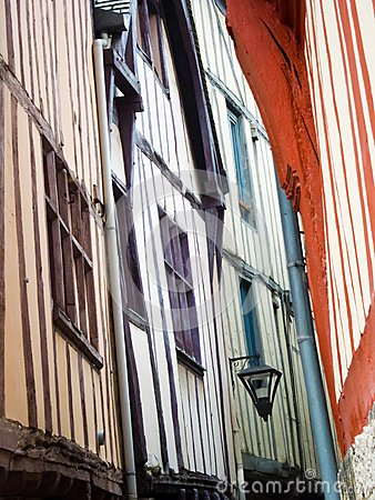 Narrow streets of Rouen, Normandy, France
