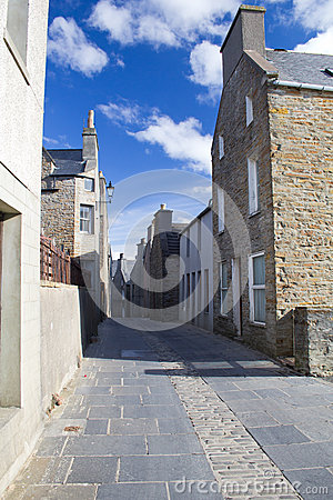 Narrow traditional street, Orkney