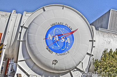 NASA Ames Research Center--Wind Tunnels Editorial Stock Photo