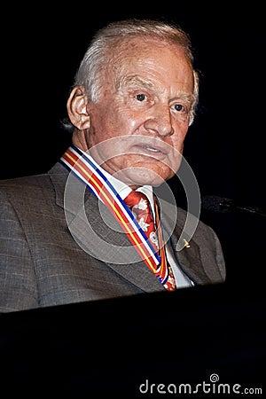 NASA Astronaut Buzz Aldrin Editorial Photo