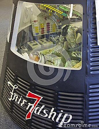 NASA Friendship 7 Spacecraft-- John H. Glenn Editorial Image
