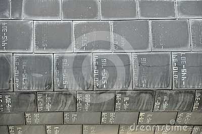 NASA HEAT SHIELD TILES FROM SPACE SHUTTLE Editorial Photography