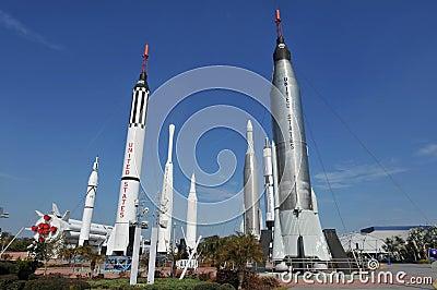 NASA s Rocket Garden Editorial Photography